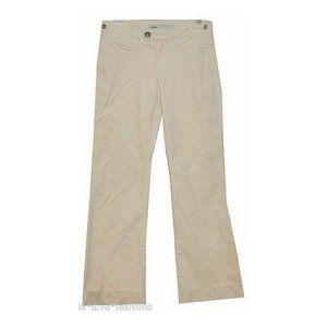 Old Navy Corduroy Ivory Straight Leg Cuffed Pants